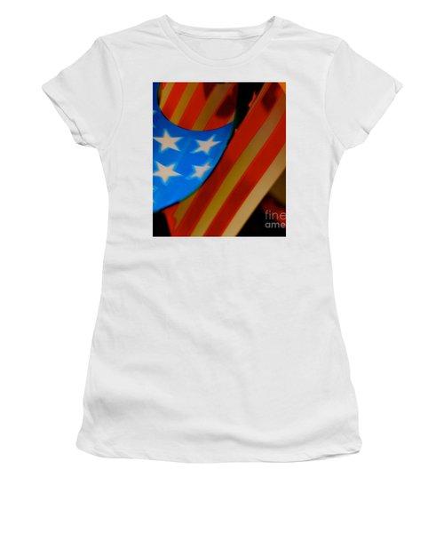 Swirled Stars Women's T-Shirt (Athletic Fit)