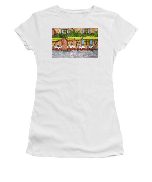 Table For Three Women's T-Shirt (Athletic Fit)