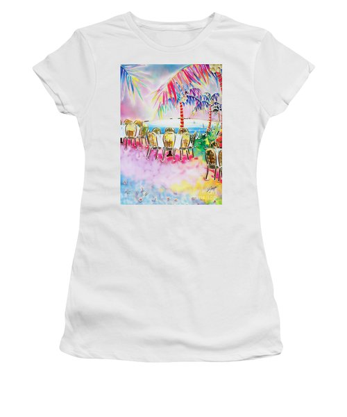 Tables On The Beach Women's T-Shirt (Athletic Fit)