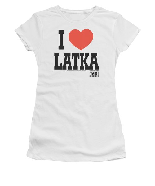 Taxi - I Heart Latka Women's T-Shirt (Athletic Fit)