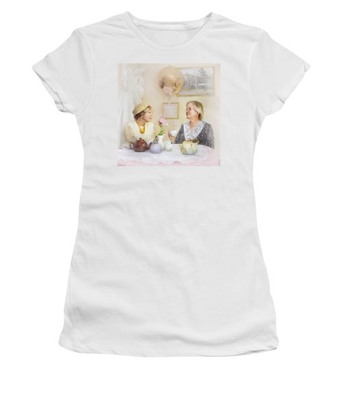 Tea And Talk Women's T-Shirt (Athletic Fit)