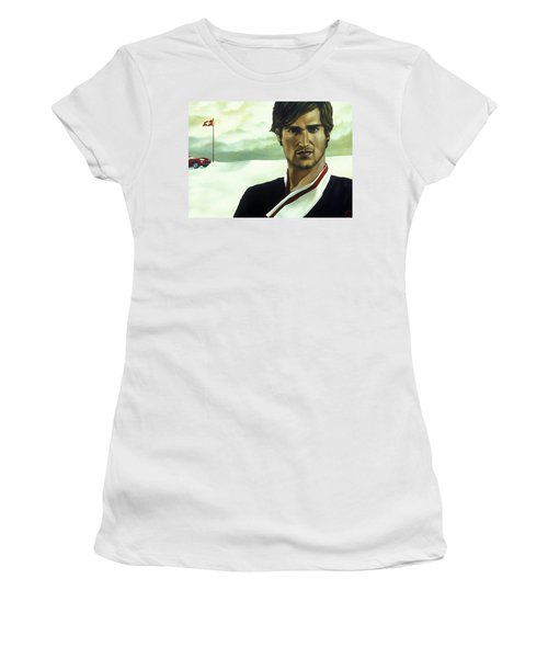 Terence Has An Altitude Acrylic & Oil On Canvas Women's T-Shirt