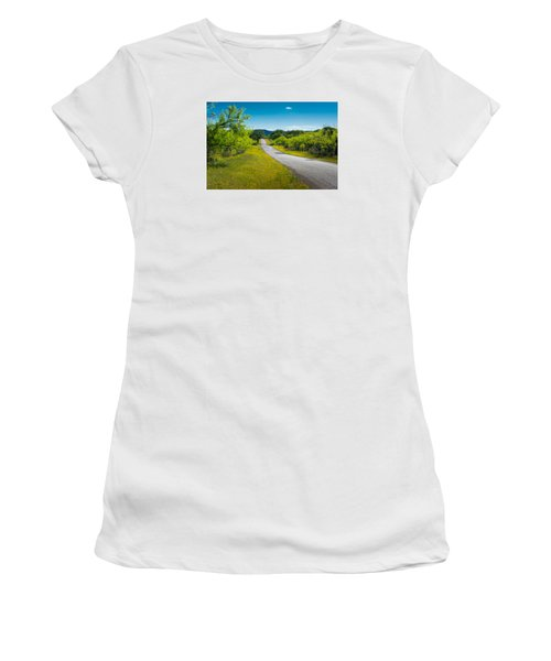 Texas Hill Country Road Women's T-Shirt (Junior Cut) by Darryl Dalton