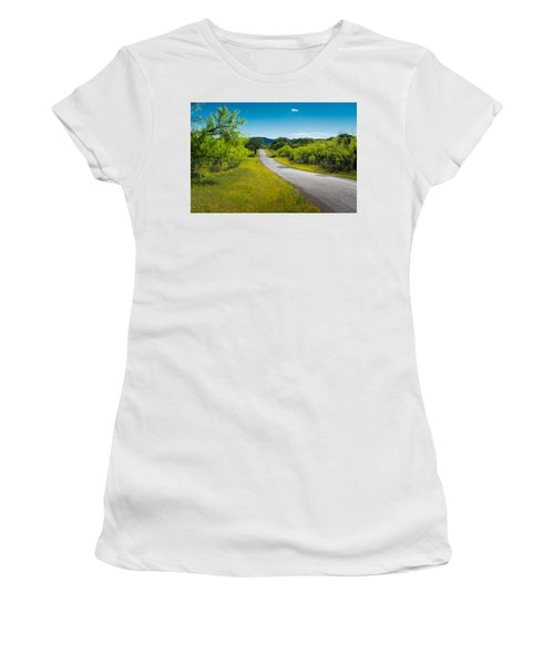 Texas Hill Country Road Women's T-Shirt