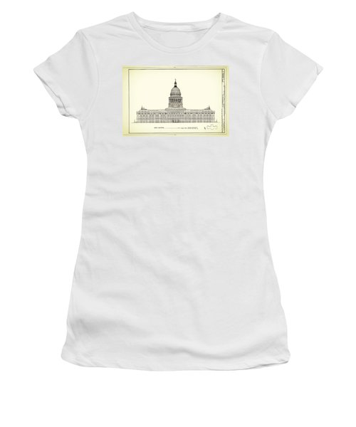 Texas State Capitol Architectural Design Women's T-Shirt (Athletic Fit)