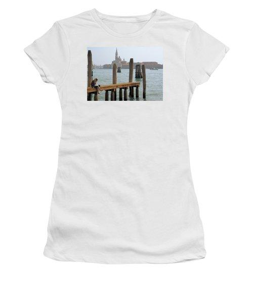 Women's T-Shirt (Junior Cut) featuring the digital art The Artist by Ron Harpham