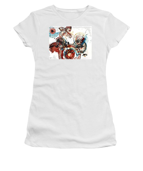 Women's T-Shirt (Junior Cut) featuring the painting The Big Bang by Kris Haas
