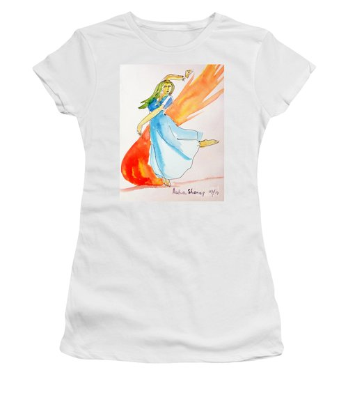 The Blazing Dancer Women's T-Shirt (Athletic Fit)