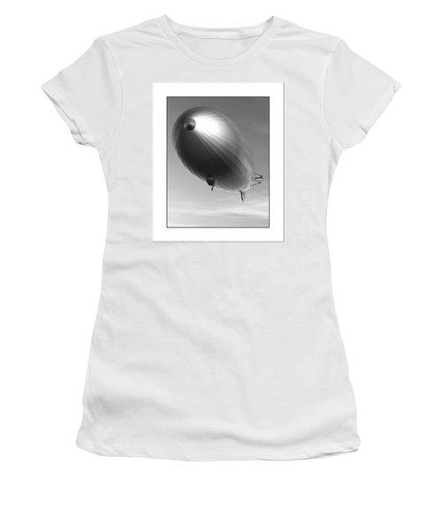 Women's T-Shirt (Junior Cut) featuring the digital art The Blimp... by Tim Fillingim