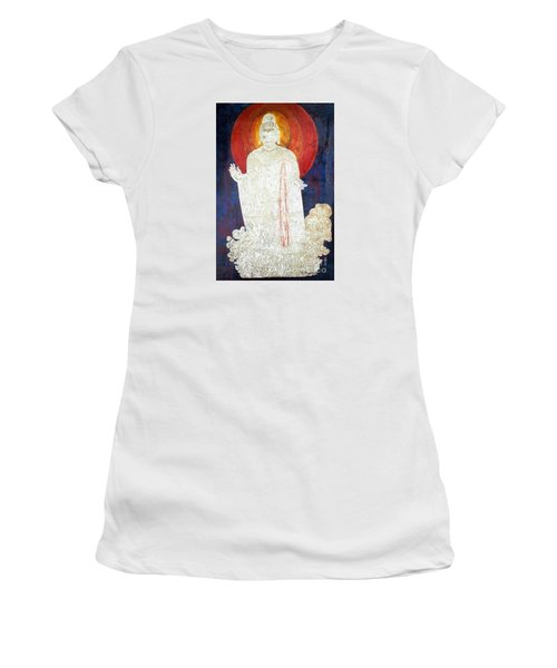 Women's T-Shirt (Junior Cut) featuring the painting The Buddha's Light by Fei A