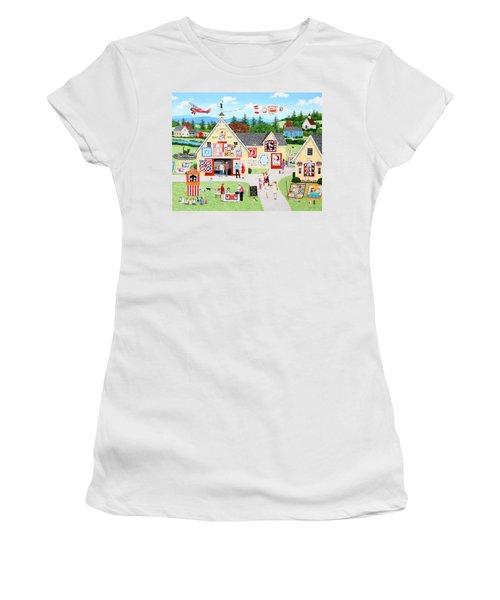 The Calico Cat Quilt Shop Women's T-Shirt (Athletic Fit)