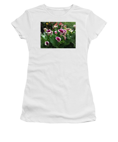 The Calla Lilies Are In Bloom Again Women's T-Shirt (Junior Cut) by Mark David Gerson