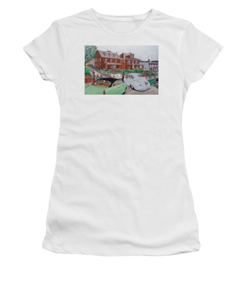 The Car Movers Of Phi Sigma Kappa Osu 43 E. 15th Ave Women's T-Shirt (Junior Cut) by Frank Hunter