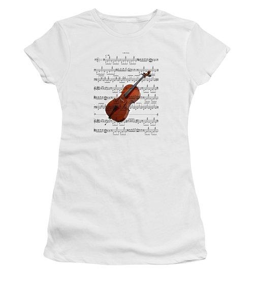 The Cello Women's T-Shirt (Junior Cut) by Ron Davidson