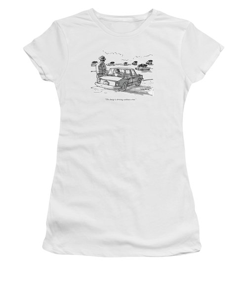 The Charge Is Driving Without A Tree Women's T-Shirt