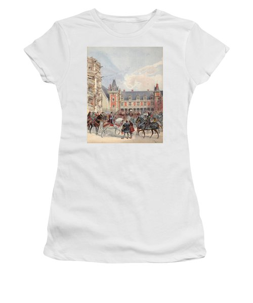 The Court In Chateaus Of The Loire Women's T-Shirt