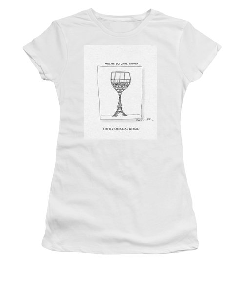 The Eiffel Tower Women's T-Shirt (Athletic Fit)