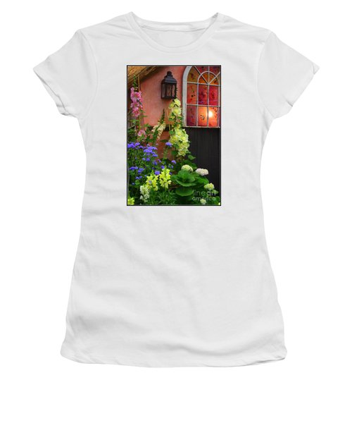The English Cottage Window Women's T-Shirt (Junior Cut) by Dora Sofia Caputo Photographic Art and Design