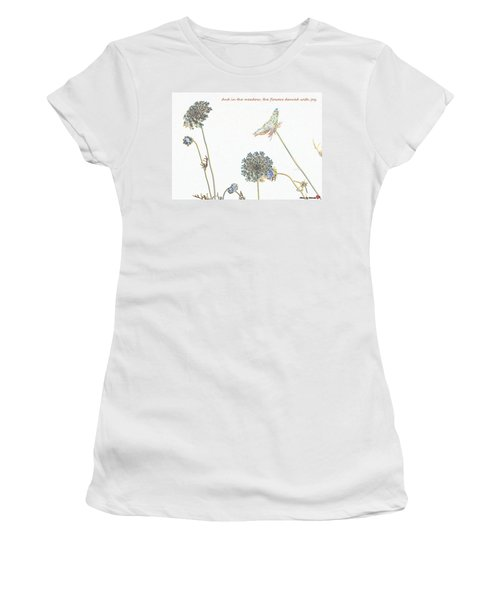 The Flowers Danced Women's T-Shirt (Athletic Fit)