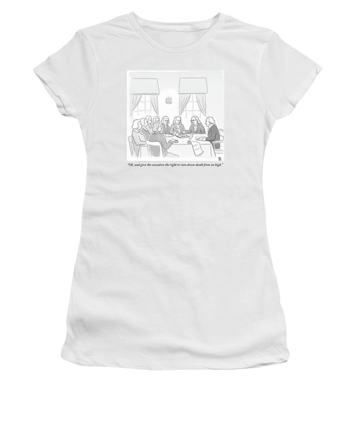 The Founding Fathers Drafting The Constitution Women's T-Shirt