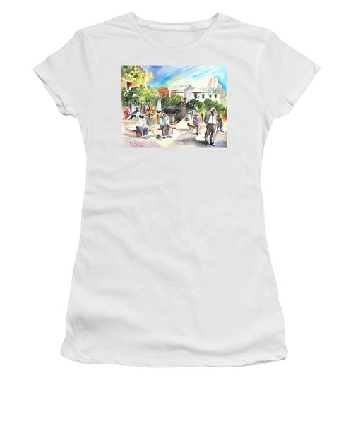 The Ghost Of Don Quijote In Alcazar De San Juan Women's T-Shirt