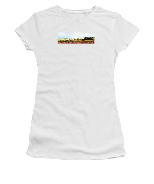 Women's T-Shirt (Junior Cut) featuring the painting Behind The Surge by Michael Helfen