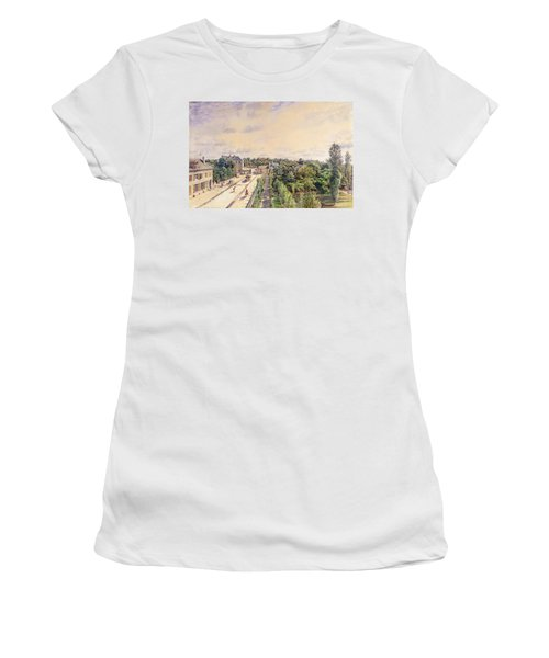 The Guest House At Sevres, C.1840 Wc On Paper Women's T-Shirt