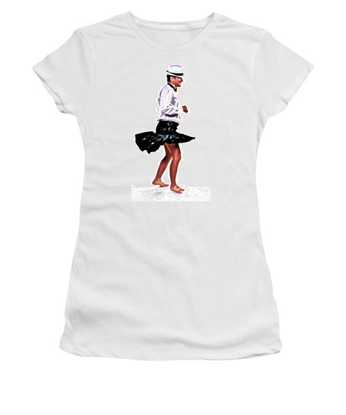 Women's T-Shirt (Junior Cut) featuring the photograph The Happy Dance by Xn Tyler