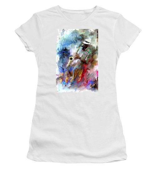 The Jazz Player Women's T-Shirt (Athletic Fit)