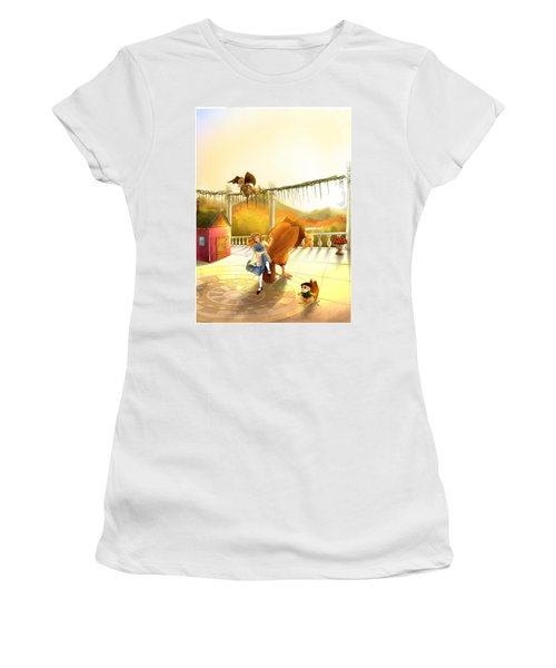 The Landing On The Balcony  Women's T-Shirt