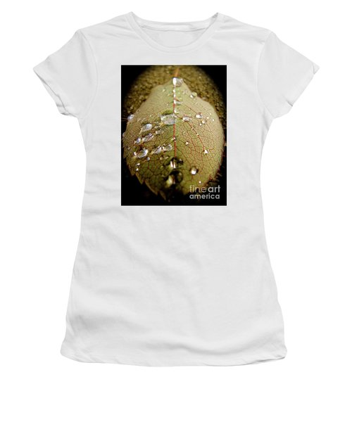 The Leaf After Rain Women's T-Shirt (Junior Cut) by CML Brown