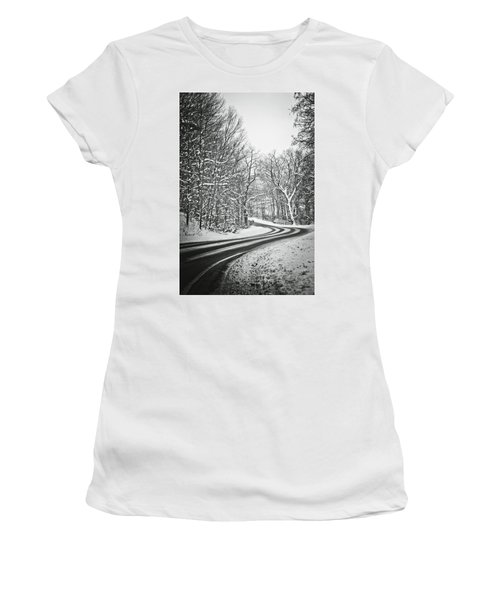 The Long Road Of Winter Women's T-Shirt (Athletic Fit)