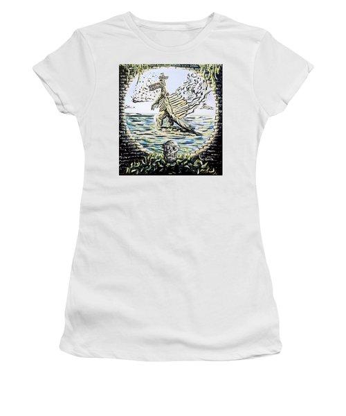The Machine Women's T-Shirt (Junior Cut) by Ryan Demaree
