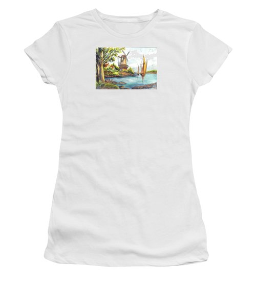 The Olde Mill Women's T-Shirt (Junior Cut) by Carol Wisniewski