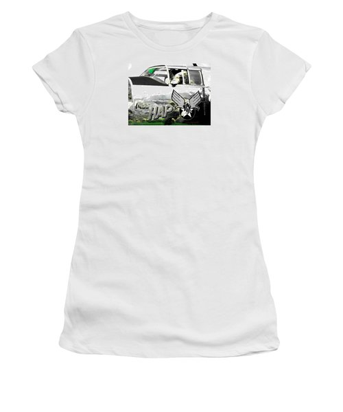 Women's T-Shirt (Junior Cut) featuring the photograph The Miss Hap by Kathy Barney