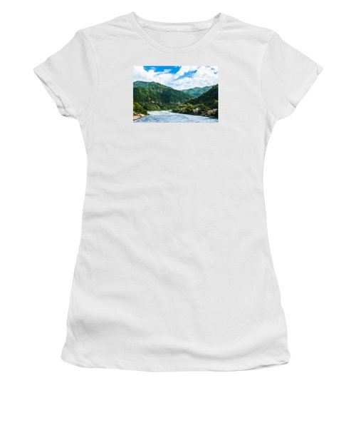 The Mountain Valley Of Rishikesh Women's T-Shirt (Athletic Fit)