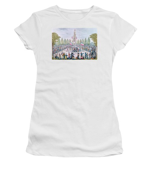 The Plantation Of A Liberty Tree During The Revolution, C.1792 Wc On Paper Women's T-Shirt