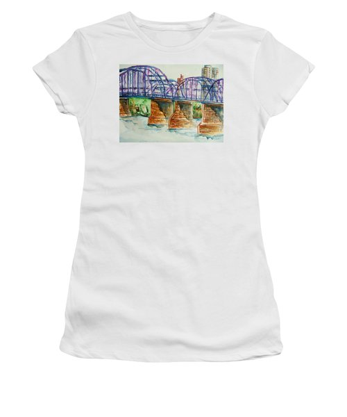The Purple People Bridge Women's T-Shirt (Athletic Fit)
