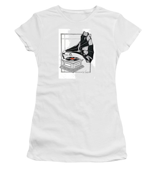 The Real Caruso Women's T-Shirt (Junior Cut) by Ira Shander