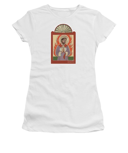 Women's T-Shirt (Junior Cut) featuring the painting The Retablo Of San Lorenzo Del Fuego 253 by William Hart McNichols