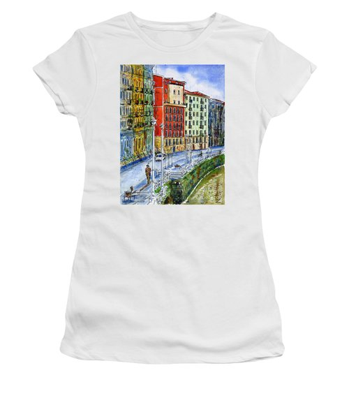 The Riverside Houses At Bilbao La Vieja Women's T-Shirt