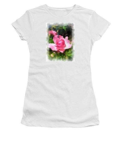 Women's T-Shirt (Junior Cut) featuring the photograph The Rose by Kerri Farley