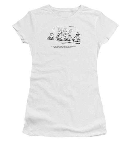 The ?rst Step Toward Solving New York City's Women's T-Shirt