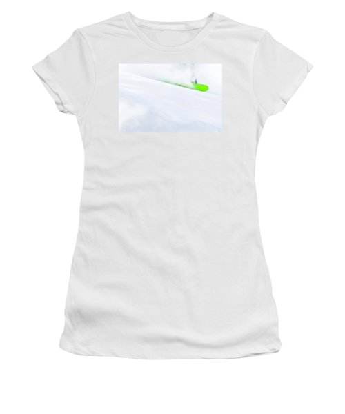 The Snowboarder And The Snow Women's T-Shirt (Athletic Fit)