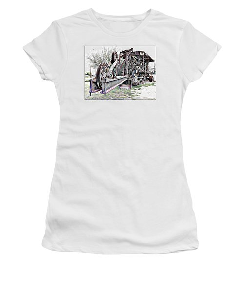 Women's T-Shirt (Junior Cut) featuring the photograph The Steam Shovel by Glenn McCarthy Art and Photography