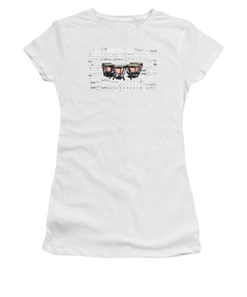 The Timpani Women's T-Shirt (Junior Cut) by Ron Davidson