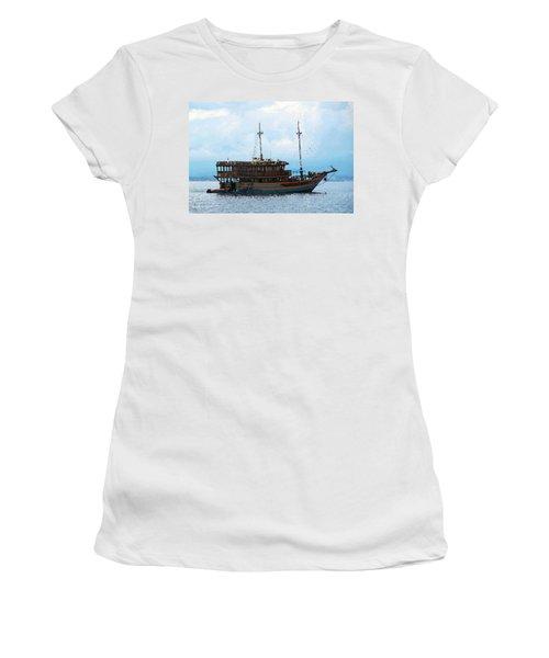 The Trip To Bunaken Women's T-Shirt (Junior Cut) by Sergey Lukashin