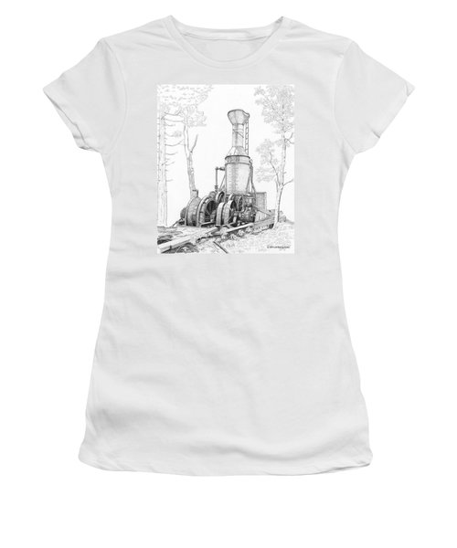 The Willamette Steam Donkey Women's T-Shirt (Athletic Fit)