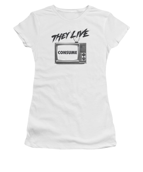 They Live - Consume Women's T-Shirt (Athletic Fit)