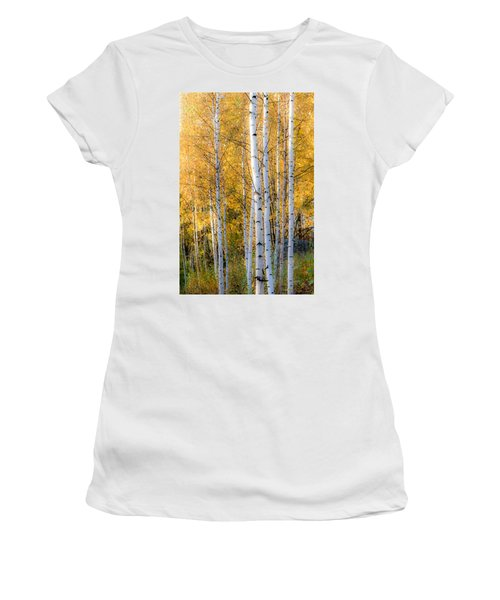 Thin Birches Women's T-Shirt (Athletic Fit)
